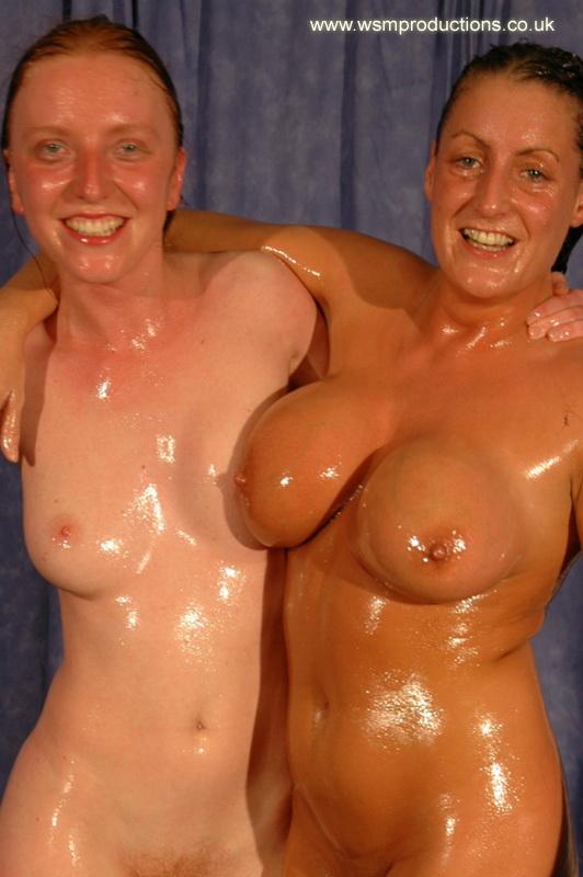 Big boob mud wrestling